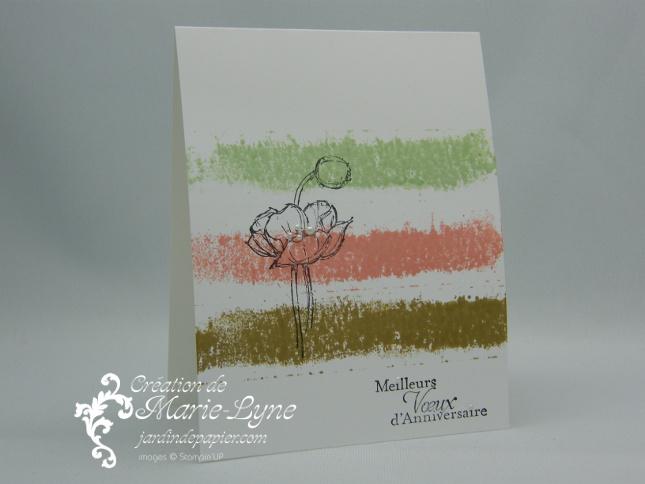 Simples esquisses, Stampin'UP!, Jardin de papier, carte simple et facile, création de carte
