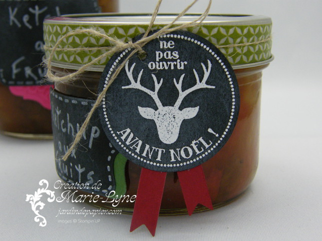 Pots mason, étiquettes, tableau noir, stampin'UP!, Jardin de papier