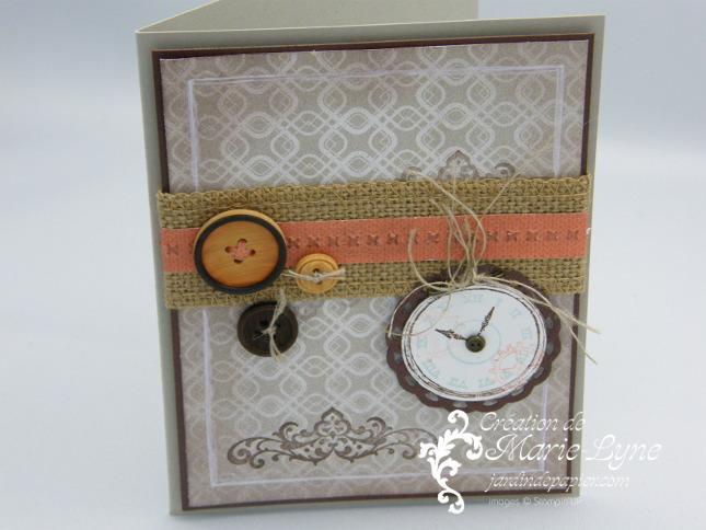 Clockworks, Stampin'UP!, Temps frisquet, carte masculine, création de cartes