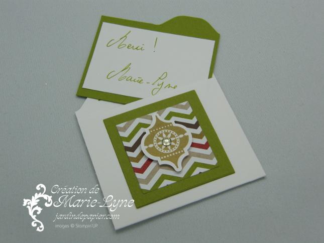 Planche de marquage Insta' enveloppes, Stampin'UP!, Jardin de papier