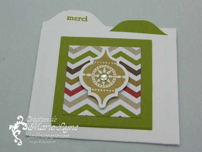 Planche de marquage Insta' enveloppes, Jardin de papier, Stampin'UP!