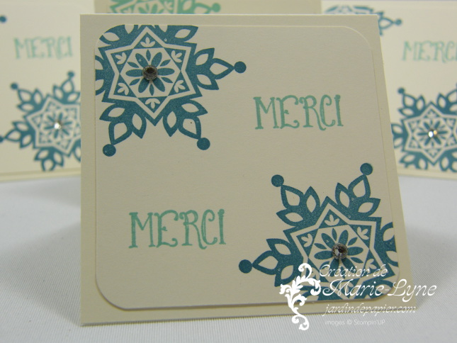 Festive flurry, mini cartes, Noël, Stampin'UP!, jardin de papier