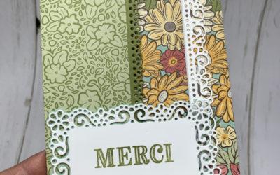 Carte pochette accordéon – Jardin ornemental
